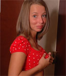 Caitlynn In A Polka Dot Top - Picture 8